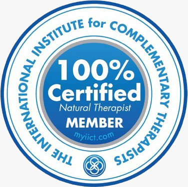 The International Institute for Complimentary Therapists 100% Ceritfied Member